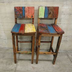 RECLAIMED TIMBER BAR STOOL - Google Search