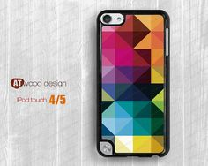 geometry color patch  ipod 4 case  ipod  5 case  by Atwoodting, $7.99