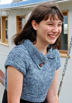 Swink! by Amy O'Neill Houck // the first crochet sweater pattern on Knitty!