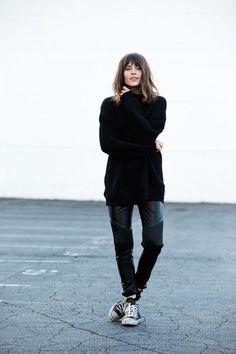 Street style con total looks en negro para el otoño-invierno 2014/2015. 13 ideas para vestir con la moda en la calle. De fiesta o a diario....