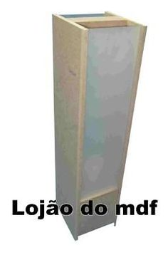 Luminária mdf reta c/ vidro - COD:LUM002-TAM:9X10X38cm