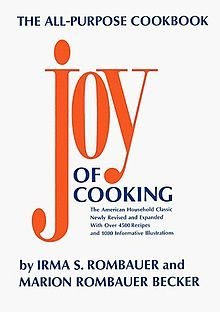 """The Joy of Cooking 1975 edition (my favorite edition and the edition I use most often) this edition was most recently issued as the """"75th Anniversary edition"""" with some additions."""