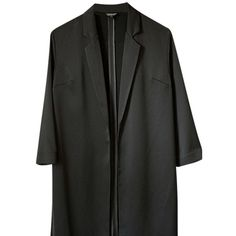 Pre-owned Topshop Dress Coat Black Blazer ($103) ❤ liked on Polyvore featuring outerwear, black, cropped blazer jacket, cropped blazer, blazer jacket, tailored blazer and topshop blazer