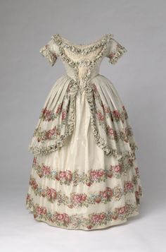 Evening dress of Queen Victoria, 1851 From the Royal CollectionFripperies and Fobs
