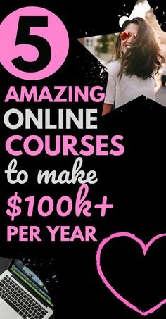 Do you want a career change? Sick of working the horrid Well this post covers 5 awesome courses so you can start making money from home. Perfect if you want a new career or business idea you can do from home. Work From Home Opportunities, Work From Home Jobs, Make Money From Home, Way To Make Money, Make Money Online, Quick Cash, Quick Money, Extra Money, New Career