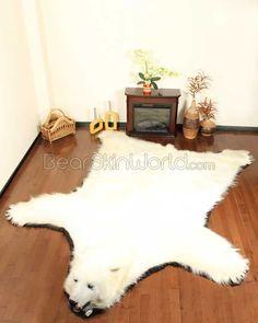 10.5 Foot Polar Bear Rug