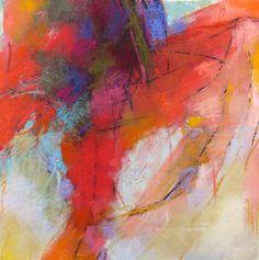 Unfolding, 13x13, pastel by Debora L. Stewart