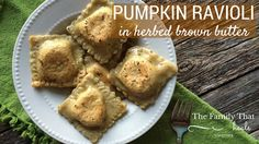 Paleo / Primal Pumpkin Ravioli in Herbed Brown Butter made with @ottosnaturals Cassava Flour | The Family That Heals Together