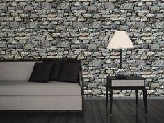 Tapet Area Granit 10 m x 53 cmGråNon-woven - Svarta & Grå tapeter - Rusta
