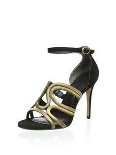 OFF Pour La Victoire Women's Vienne Ankle Strap Sandal with Metallic Detail Ankle Strap Sandals, Fashion Shoes, Women Accessories, Shoe Bag, Metallic, Detail, Bags, Women's Shoes, Oregon