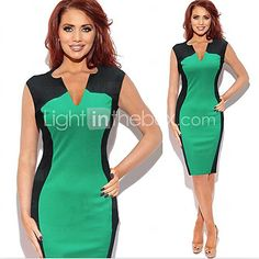 De monta vrouwen mouwloze v-hals bodycon slanke jurken | LightInTheBox