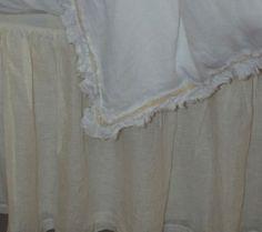 Pom Pom at Home Linen Gathered Bed Skirt