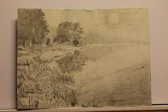 Aurelian Ghita, pencil on paper. Silver night