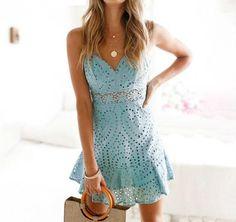 1f2965b3 Blue lace summer dress Winter Dresses, Lace Summer Dresses, Grad Dresses,  Homecoming Dresses