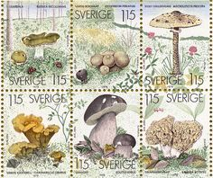 Swedish Mushroom Stamps by Mike Rodriquez, via Flickr