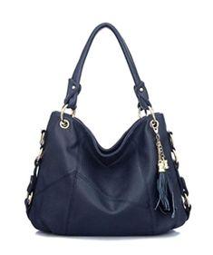 cb68262974d1 Womens Girls Cow Leather Tassel Hobo Shoulder Handbag Tote Crossbody Bag  Daily Purse Satchel