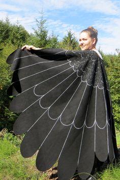Raven Crow Blackbird Hawk Owl Wings Custom Bird by islesofday                                                                                                                                                     More