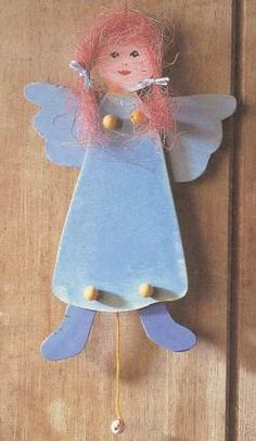 Ангелок из фанеры. Чертеж.