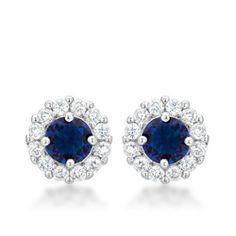 Bella Bridal Earrings in Blue