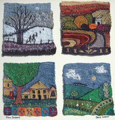 Gallery   Stevie Walker   Stevie Walker---gorgeous pieces; artist states machine embroidery.