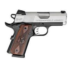 "Springfield Armory EMP Enhanced Semi Auto Handgun .40 S, 3"" Barrel 8 Rounds Thinline Cocobolo Grips Stainless Slide Black Anodized Frame Night Sights"