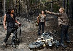 Daryl Dixon (Norman Reedus), Honey (Christine Evangelista) and D (Austin Amelio) in Episode 6 Photo by Gene Page/AMC