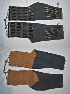 Antique Edo period ashigaru kote (foot soldiers armored sleeves).  http://www.samuraiantiqueworld.com/