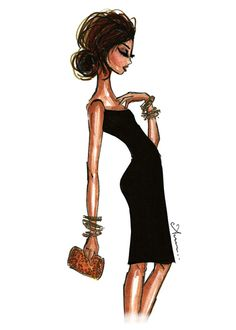 illustrationsbyanum:   simply chic