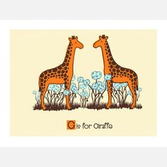 G is for Giraffe 14x11, now featured on Fab.