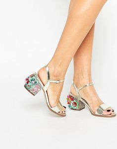 Image 1 of ASOS HARROGATE Embellished Heeled Sandals -- these shoes are so dreamy
