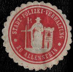 + 1871 Police in Allenstein East Prussia German States Embossed Envelope Seal