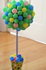 DIY Home Decor :DIY Decorative Balloon Topiary Project DIY Topiaries