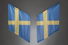 Fahnen | Armfahnen | flags | armflags | Fanartikel | Merchandising | Schweden, Sweden, Suède für 14,95 Euro