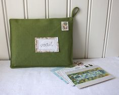Items similar to postcards from europe -mail organizer, green on Etsy