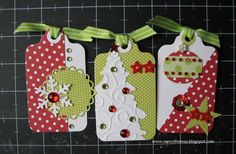 scrapbooking idea for christmas tag ♥