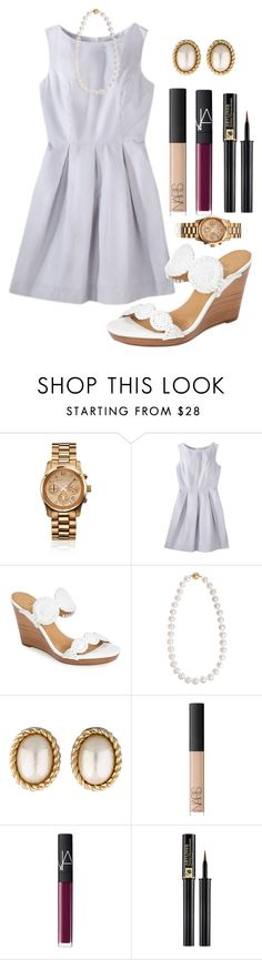 """""""Had a nice family dinner ☺️"""" by madelyn-abigail ❤ liked on Polyvore featuring Michael Kors, Jack Rogers, Cobra & Bellamy, Christian Dior, NARS Cosmetics and Lancôme"""