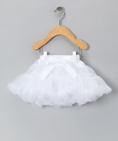 Take a look at this White Bow Pettiskirt - Infant, Toddler & Girls by Just For Girls on #zulily today!
