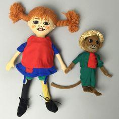 Astrid Lindgren doll collection. Pippi Långstrump & Herr Nilsson rag…