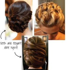 first image. PinkLouLou: Wedding Hair DO'S, and DON'T YOU DARE'S.