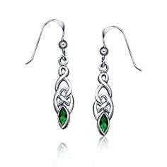 Bling Jewelry Green Simulated Emerald Glass Celtic Knotwork Earrings 925 Silver Emerald Glass Celtic Knotwork Drop Earrings , look enchanting in green when you wear our stunning Simulated Emerald Color Celtic Knotwork Drop Earrings. These pair of exquisite yet inexpensive celtic knot earrings is finely handcrafted with gleaming .   #amazon #celtic #celtic knotwork #celtic knotwork drop #design of gold bracelet for female #drop #drop earrings #Earrings #emerald #emerald gla