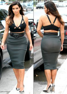 Julie!!  Don't do this though!!  Kim Kardashian and Kanye West go to dinner at Prime 112 in Miami Beach. Kim was wearing a cutout top, see-through skirt, and metallic pumps for her date on October 14, 2012.