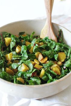 Indian Roasted Potato Salad With Swiss Chard from @Beverly Weidner