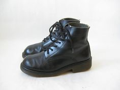 Vintage Doc Marten Made in England Black Ankle by TimeBombVintage