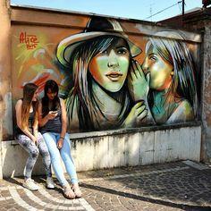Alicè - Italian Street Artist - Frosinone (IT) - 06/2015 - |\*/| #alice #streetart #alicepasquini #italy