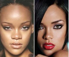 Rihanna Nose Job Before After...she belongs to the Illuminati and is a wicked woman...google and research it...