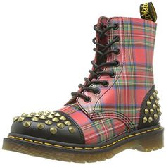 Dr. Martens Women's Dai Boots,Red,3 M UK / 5 B(M) US