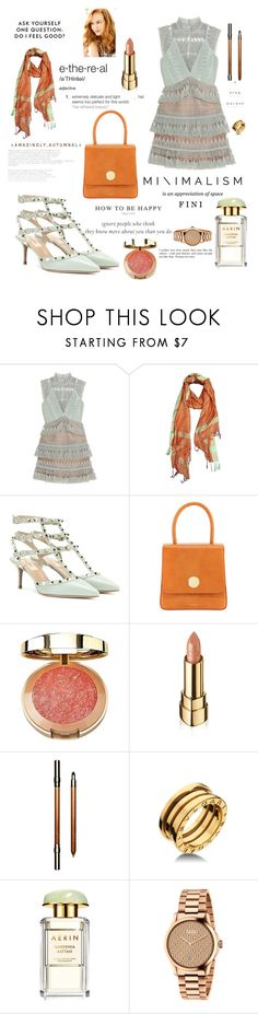 """Feel good"" by fini-i ❤ liked on Polyvore featuring self-portrait, Valentino, Mansur Gavriel, Milani, Dolce&Gabbana, Clarins, Bulgari, John Lewis and Gucci"