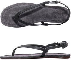 25a30432043 Lanvin Leather Thong Sandals in Black for Men - Lyst Men Sandals