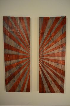 Wood wall art  LEATHER WRAPPED SEPTEMBER  wooden