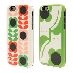 Orla Kiely: A protective 2 part iPhone 6 case with a moulded TPU inner and a high gloss outer hardshell. Includes an extra hardshell so you can switch and swap designs. Compatible with iPhone 6 16GB, 64GB and 128GB.